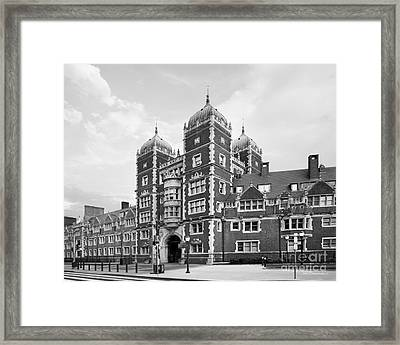 University Of Pennsylvania The Quadrangle Framed Print by University Icons