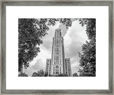 University Of Pittsburgh Cathedral Of Learning Front Framed Print