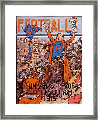 University Of Pittsburgh  Football Program 1915 Framed Print
