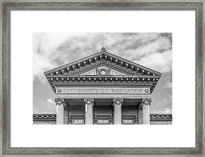 University Of Redlands Administration Building Framed Print