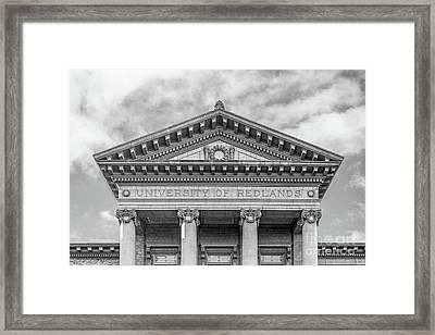 University Of Redlands Administration Building Framed Print
