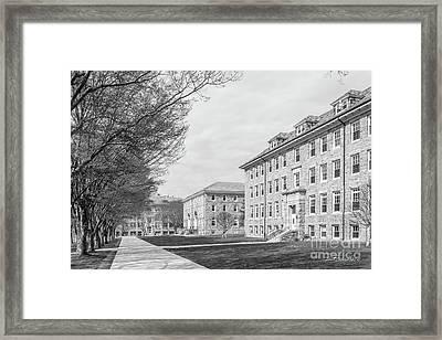University Of Rhode Island Quad Framed Print