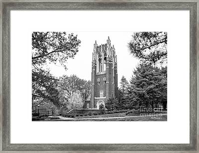 University Of Richmond Boatwright Library Framed Print by University Icons