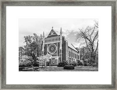 University Of Richmond Cannon Chapel Framed Print by University Icons