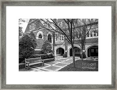 University Of Richmond Garden Of Five Lions Framed Print