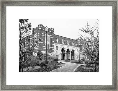University Of Richmond Weinstein International Center Framed Print by University Icons