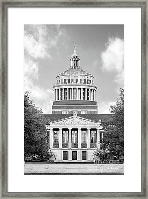University Of Rochester Rush Rhees Library Framed Print by University Icons