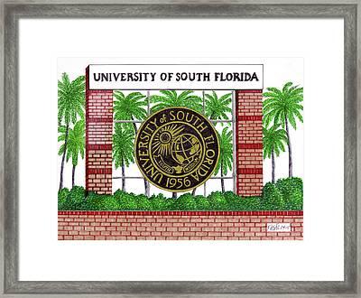 University Of South Florida Framed Print