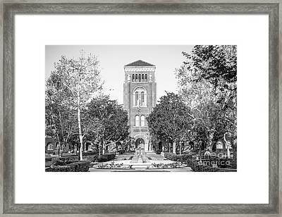 University Of Southern California Admin Building Framed Print by University Icons