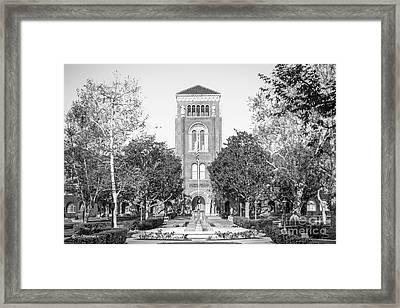 University Of Southern California Admin Building Framed Print