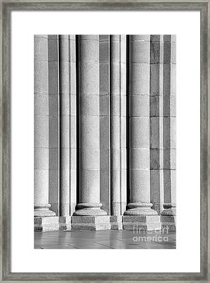 University Of Southern California Columns Framed Print by University Icons