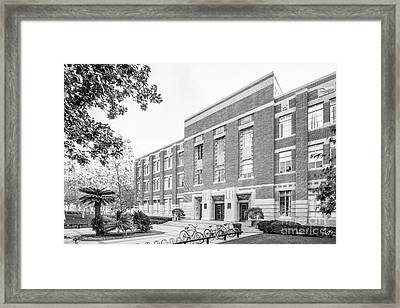 University Of Southern California Hancock Hall Framed Print by University Icons