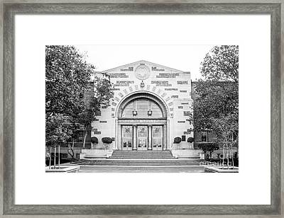University Of Southern California Physical Ed Framed Print by University Icons