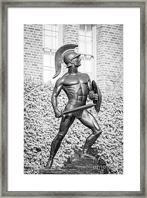 University Of Southern California Tommy Trojan Statue Framed Print by University Icons