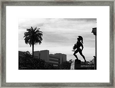 University Of Southern California Tommy Trojan Framed Print by University Icons