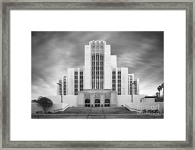 University Of Southern California University Hospital Framed Print by University Icons