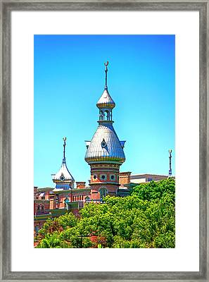 University Of Tampa Minaret Fl Framed Print