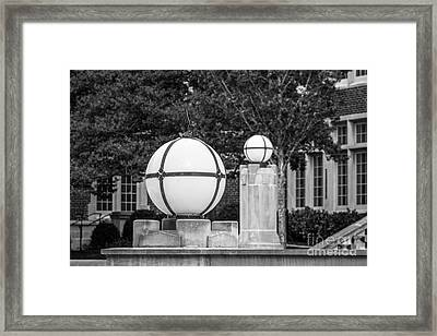 University Of Tennessee Light Framed Print by University Icons