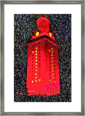 University Of Texas At Austin Tower 11 - Pa Framed Print