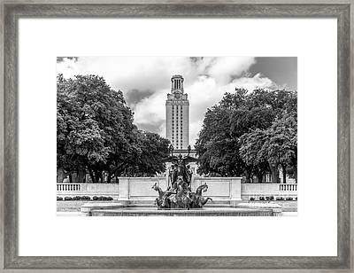 University Of Texas Austin Littlefield Fountain Framed Print by University Icons