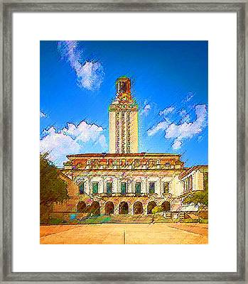 University Of Texas Framed Print