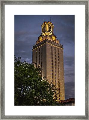 University Of Texas Tower Framed Print