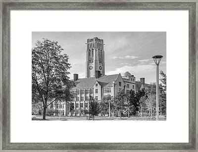 University Of Toledo University Hall Framed Print by University Icons