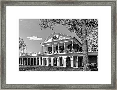 University Of Virginia Academical Village Pavillion Framed Print by University Icons