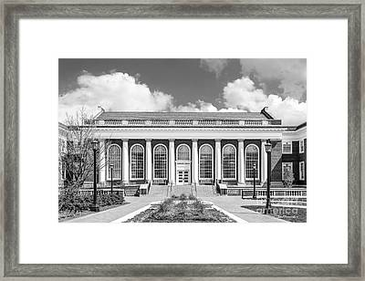 University Of Virginia Alderman Library Framed Print by University Icons