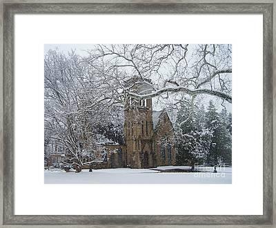 University Of Virginia Chapel Framed Print by Charlotte Gray