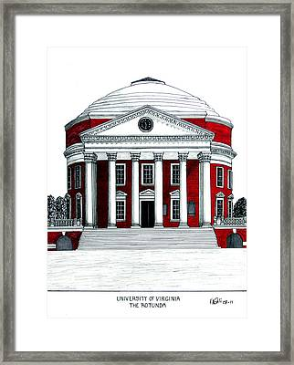 University Of Virginia Framed Print by Frederic Kohli