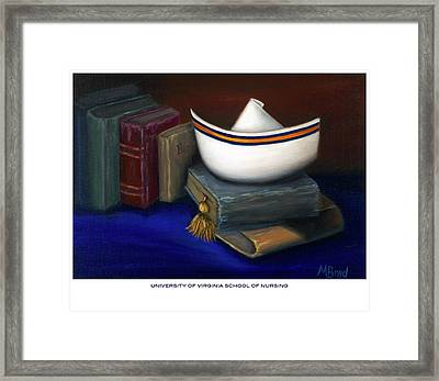 Framed Print featuring the painting University Of Virginia School Of Nursing by Marlyn Boyd