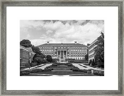 University Of Wisconsin Madison Agricultural Hall Framed Print by University Icons