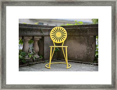 University Of Wisconsin Madison Terrace Chair Color Framed Print by University Icons