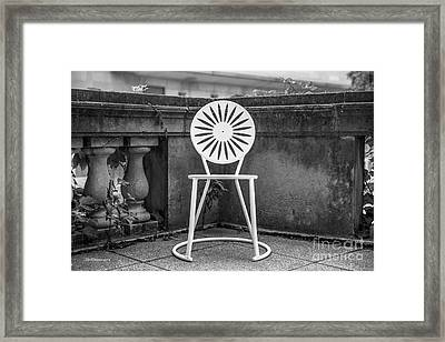 University Of Wisconsin Madison Terrace Chair Framed Print