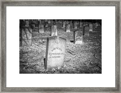 Unknown Confederate Soldier Framed Print