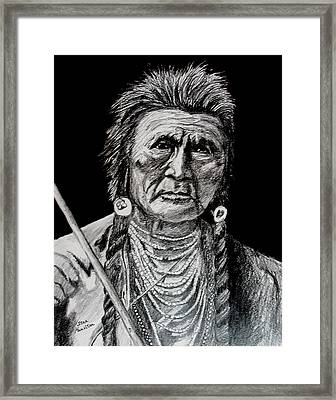 Unknown Indian Framed Print by Stan Hamilton