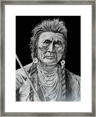 Unknown Indian V Framed Print by Stan Hamilton