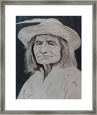 Unknown Indian Vi Framed Print by Stan Hamilton