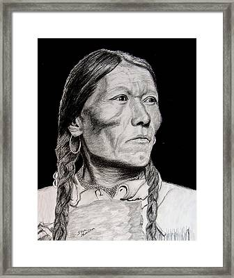 Unknown Indian Vii Framed Print by Stan Hamilton