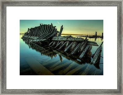Unknown Shipwreck Framed Print by Jakub Sisak
