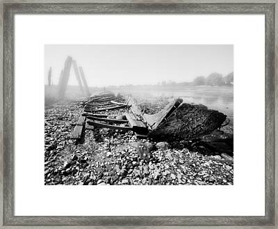 Unknown Shipwreck  Framed Print by Dapixara Art