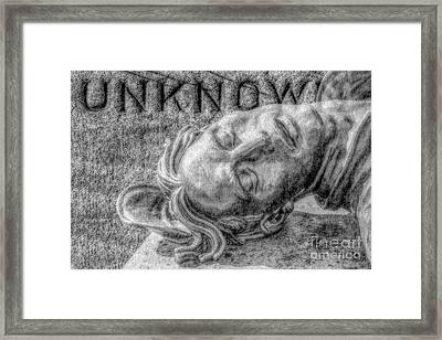 Unknown Soldier Gettysburg Framed Print by Randy Steele