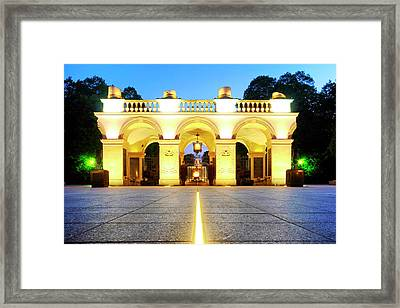 Framed Print featuring the photograph Unknown Soldiers' Grave by Fabrizio Troiani