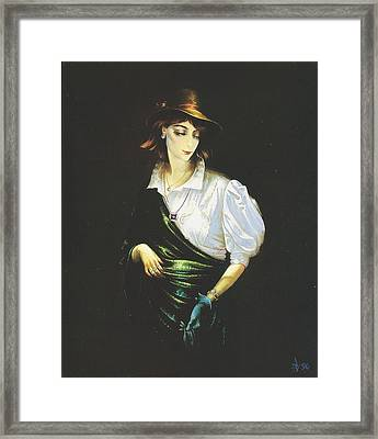 Unknown Woman Framed Print by Andrej Vystropov