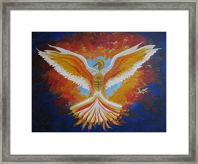 Unleashing The Holy Spirit Framed Print by Collette Bortolin