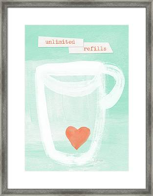 Unlimited Refills- Art By Linda Woods Framed Print