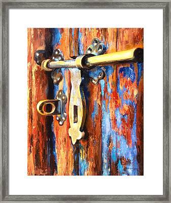 Unlocked Framed Print by Denise H Cooperman