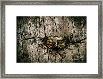 Unlocking A Golden Mystery Framed Print