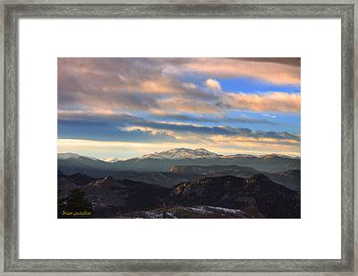 The Unmatched Beauty Of The Colorado Rockies Framed Print